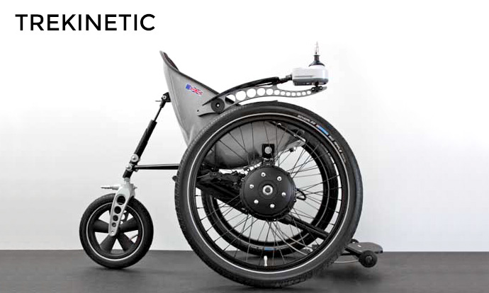 trekinetic wheelchair with SDL power wheels