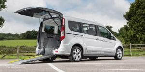 The Ford Connect with rear wheelchair access