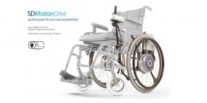 Joystick controlled electric power for your manual wheelchair