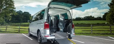 VW Caravelle Rear wheelchair access