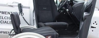 Belek Car Seat lowered to wheelchair height